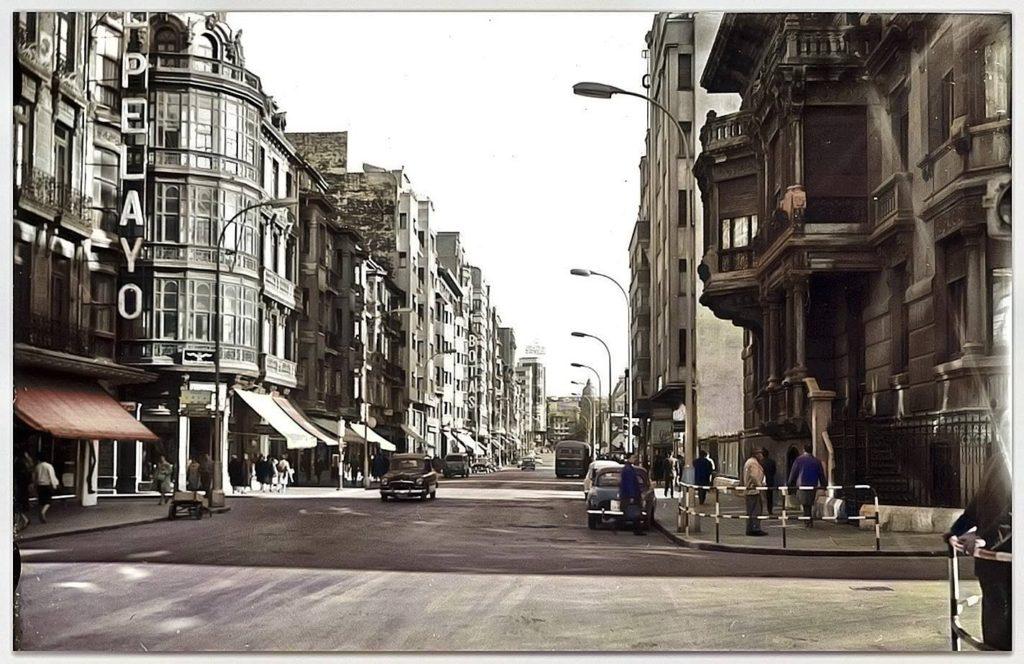 Calle Uría años 50
